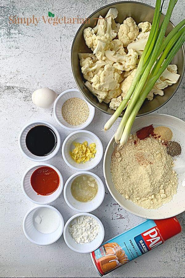 Asian Cauliflower Wings Ingredients