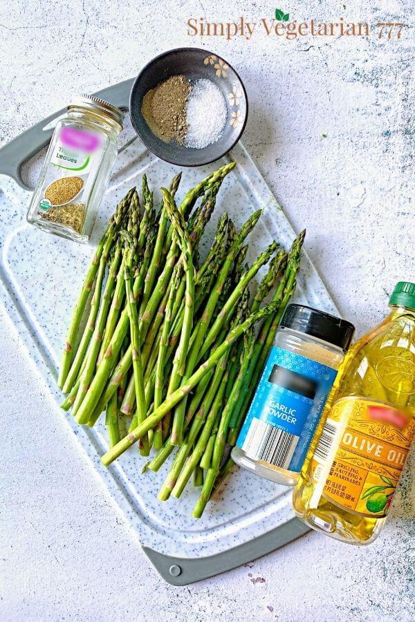 Air Fryer Asparagus Ingredients